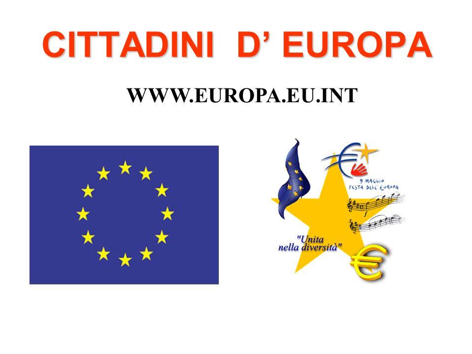 CITTADINI D EUROPA WWW.EUROPA.EU.INT
