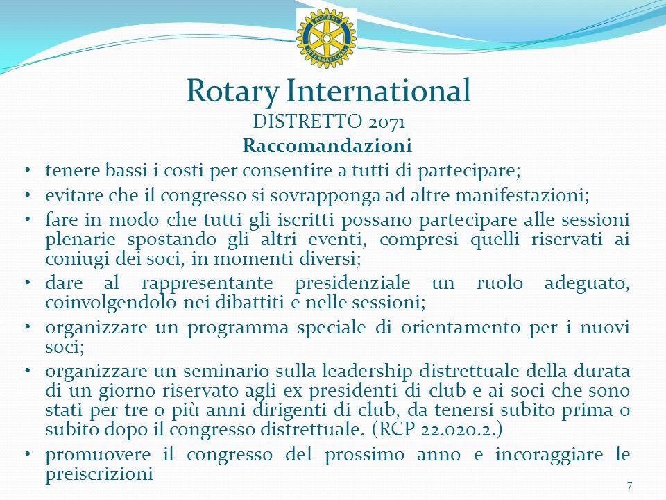 Rotary International DISTRETTO 2071 8 Auditorium di S. Romano
