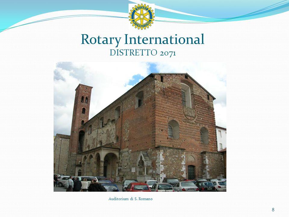 Rotary International DISTRETTO 2071 9 Interno dellAuditorium di S. Romano