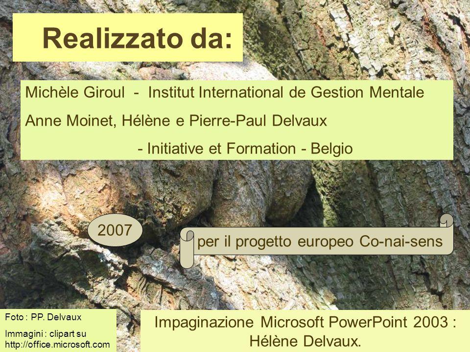 Michèle Giroul - Institut International de Gestion Mentale Anne Moinet, Hélène e Pierre-Paul Delvaux - Initiative et Formation - Belgio Realizzato da: