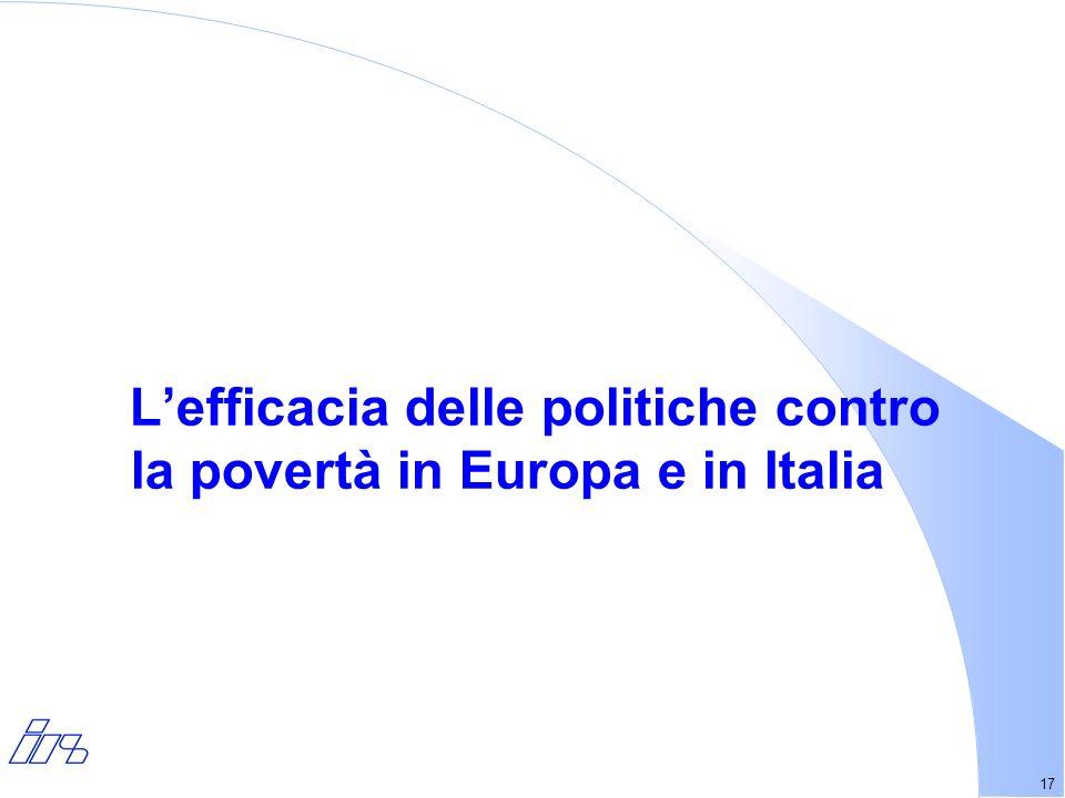 17 Lefficacia delle politiche contro la povertà in Europa e in Italia