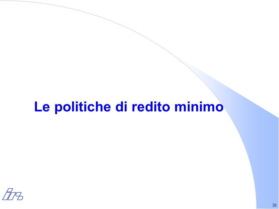 38 Le politiche di redito minimo