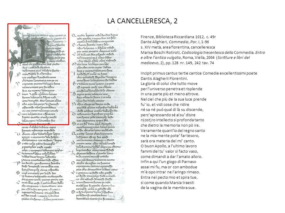 LA MERCANTESCA, 1 Firenze, Biblioteca Nazionale Centrale, Conventi soppressi da ordinare, Badia 30, c.