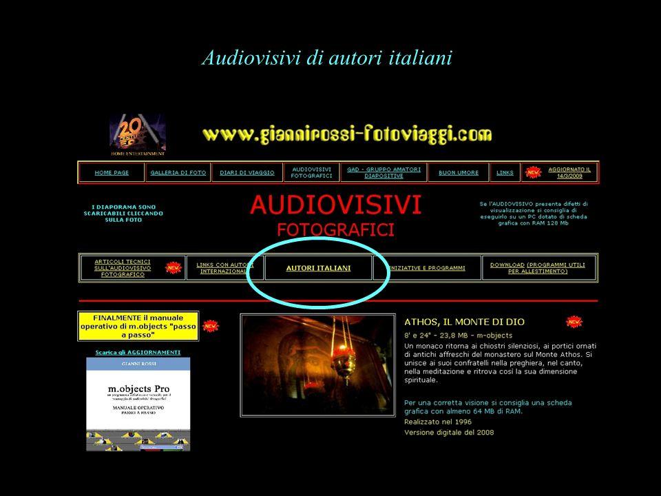 Audiovisivi di autori italiani