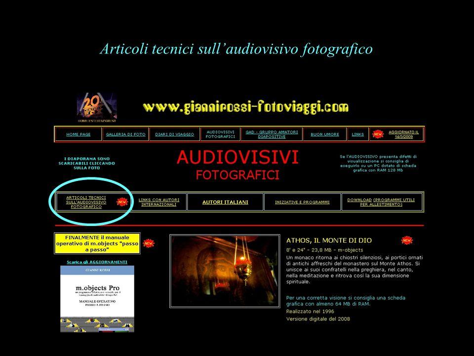 Articoli tecnici sullaudiovisivo fotografico
