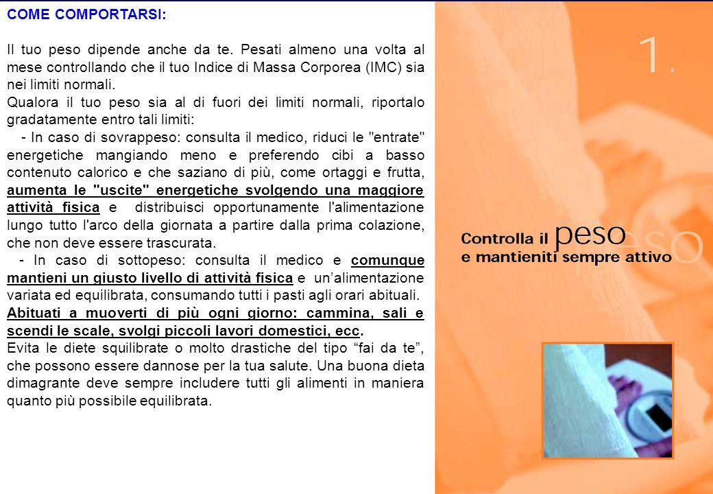 Istituto Nazionale di Ricerca per gli Alimenti e la Nutrizione, Via Ardeatina 546 - 00178 Roma - http://www.inran.it INRAN Free Radical Research Group INRAN COME COMPORTARSI: Il tuo peso dipende anche da te.