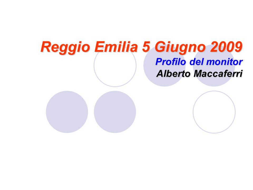 Reggio Emilia 5 Giugno 2009 Profilo del monitor Alberto Maccaferri