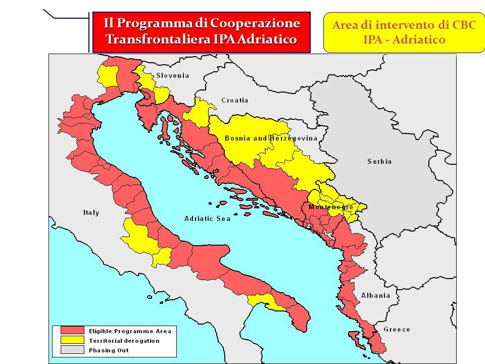 Il Programma di Cooperazione Transfrontaliera IPA Adriatico Area di intervento di CBC IPA - Adriatico