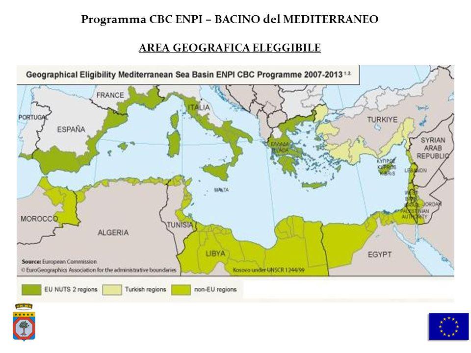 Programma CBC ENPI – BACINO del MEDITERRANEO AREA GEOGRAFICA ELEGGIBILE