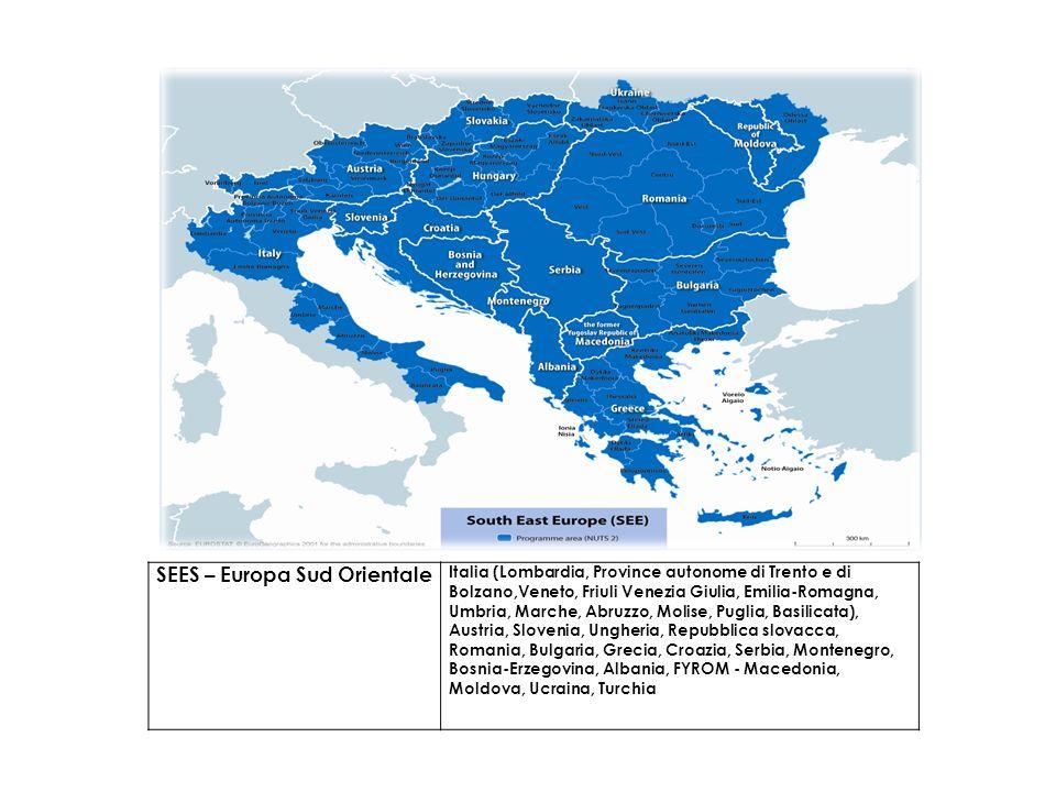 SEES – Europa Sud Orientale Italia (Lombardia, Province autonome di Trento e di Bolzano,Veneto, Friuli Venezia Giulia, Emilia-Romagna, Umbria, Marche,