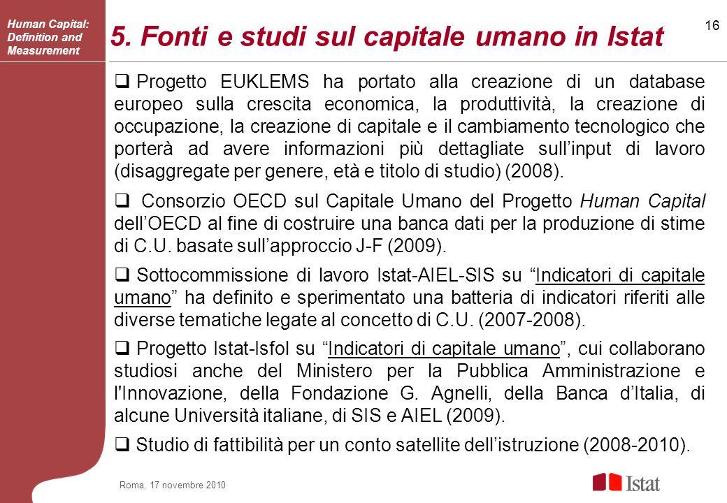 16 Roma, 17 novembre 2010 5.