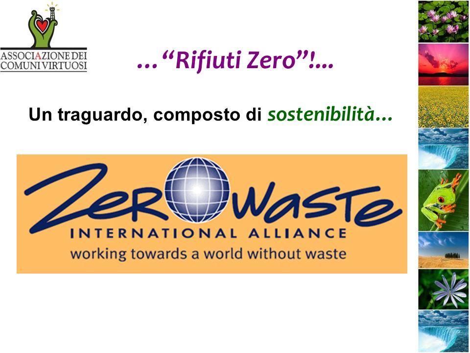…Rifiuti Zero!... Un traguardo, composto di sostenibilità…
