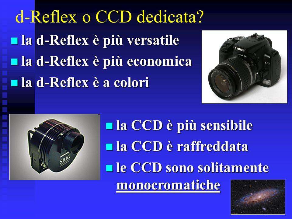 d-Reflex o CCD dedicata? la d-Reflex è più versatile la d-Reflex è più versatile la d-Reflex è più economica la d-Reflex è più economica la d-Reflex è