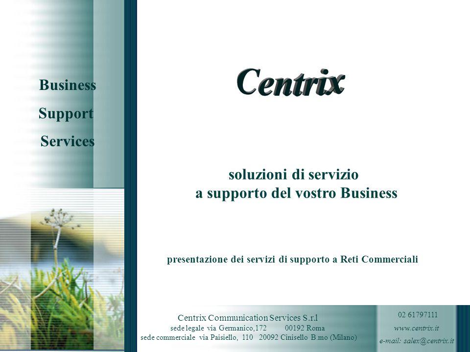 soluzioni di servizio a supporto del vostro Business presentazione dei servizi di supporto a Reti Commerciali Direzione Marketing Italinks giugno 2006
