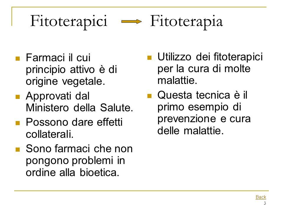 3 Fitoterapici Fitoterapia Farmaci il cui principio attivo è di origine vegetale. Approvati dal Ministero della Salute. Possono dare effetti collatera