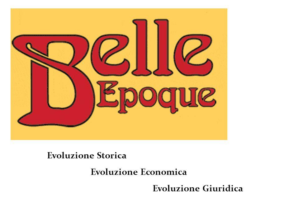 Evoluzione Storica Evoluzione Economica Evoluzione Giuridica