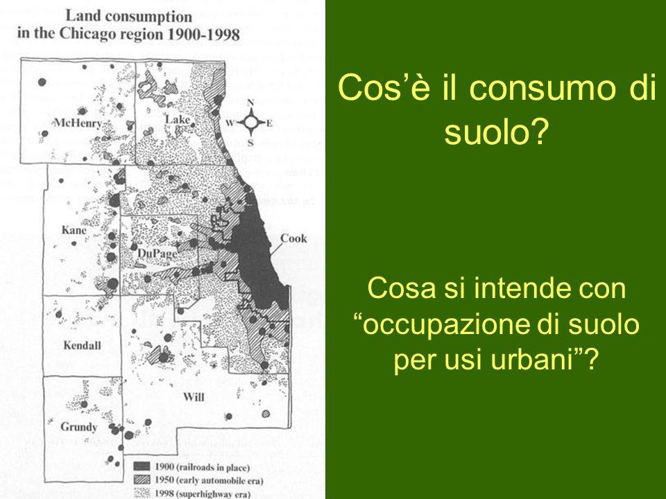 Cosè il consumo di suolo? Cosa si intende con occupazione di suolo per usi urbani?