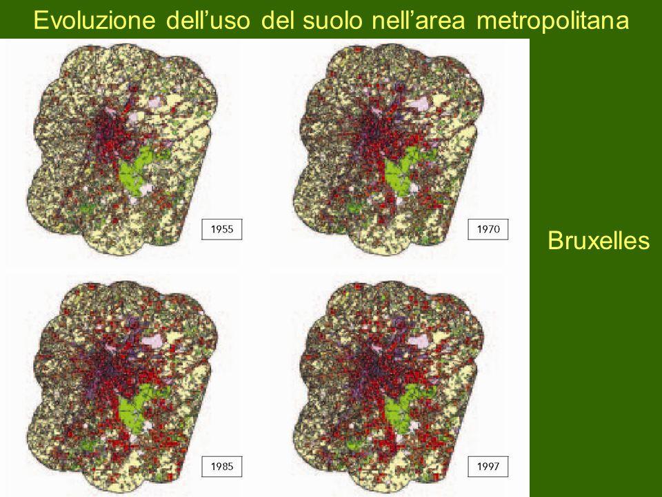 Evoluzione delluso del suolo nellarea metropolitana Bruxelles