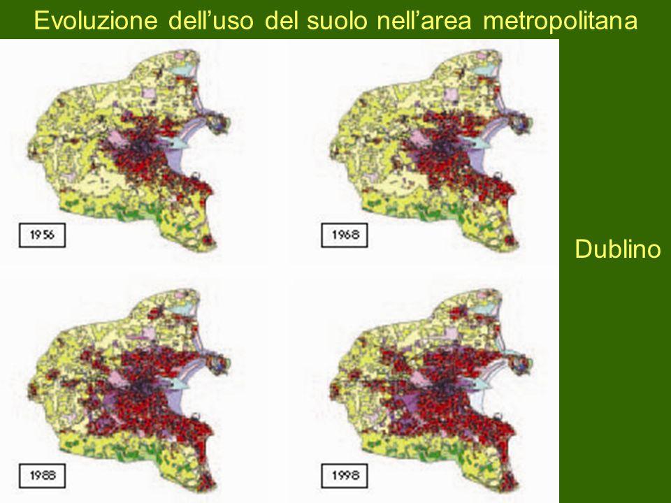 Evoluzione delluso del suolo nellarea metropolitana Dublino