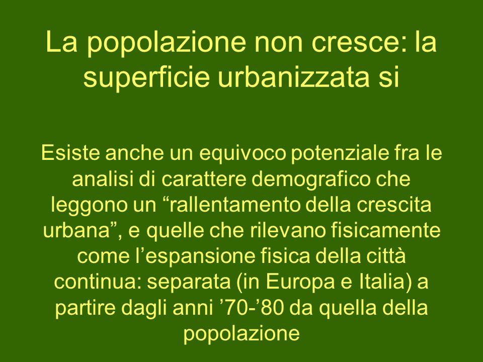 La popolazione non cresce: la superficie urbanizzata si Esiste anche un equivoco potenziale fra le analisi di carattere demografico che leggono un ral