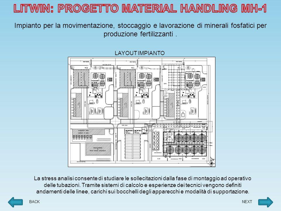 BACK Impianto per la movimentazione, stoccaggio e lavorazione di minerali fosfatici per produzione fertilizzanti.