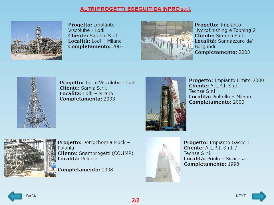 Progetto: Impianto Limito 2000 Cliente: A.L.P.I.S.r.l.