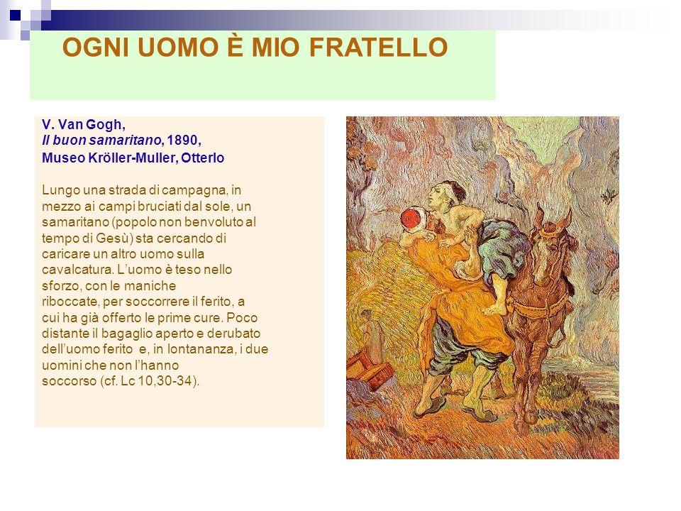 V. Van Gogh, Il buon samaritano, 1890, Museo Kröller-Muller, Otterlo Lungo una strada di campagna, in mezzo ai campi bruciati dal sole, un samaritano