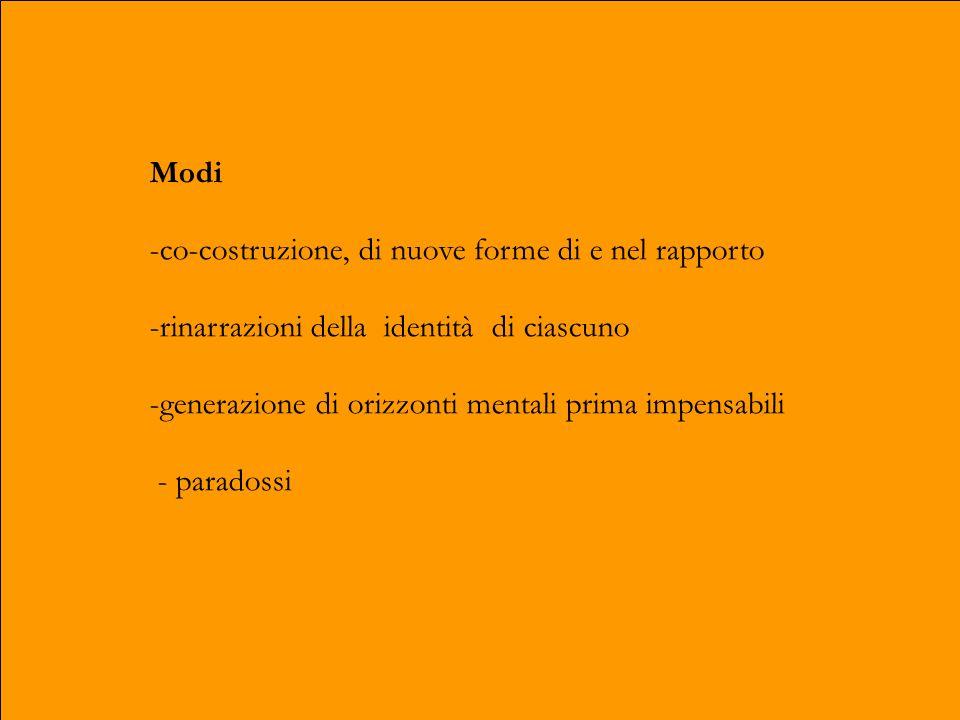 Modello - principio di una instabilità deliberata istituzionale, dinamica e creativa - non istituzione - soggetto terapeutico intersoggettivo