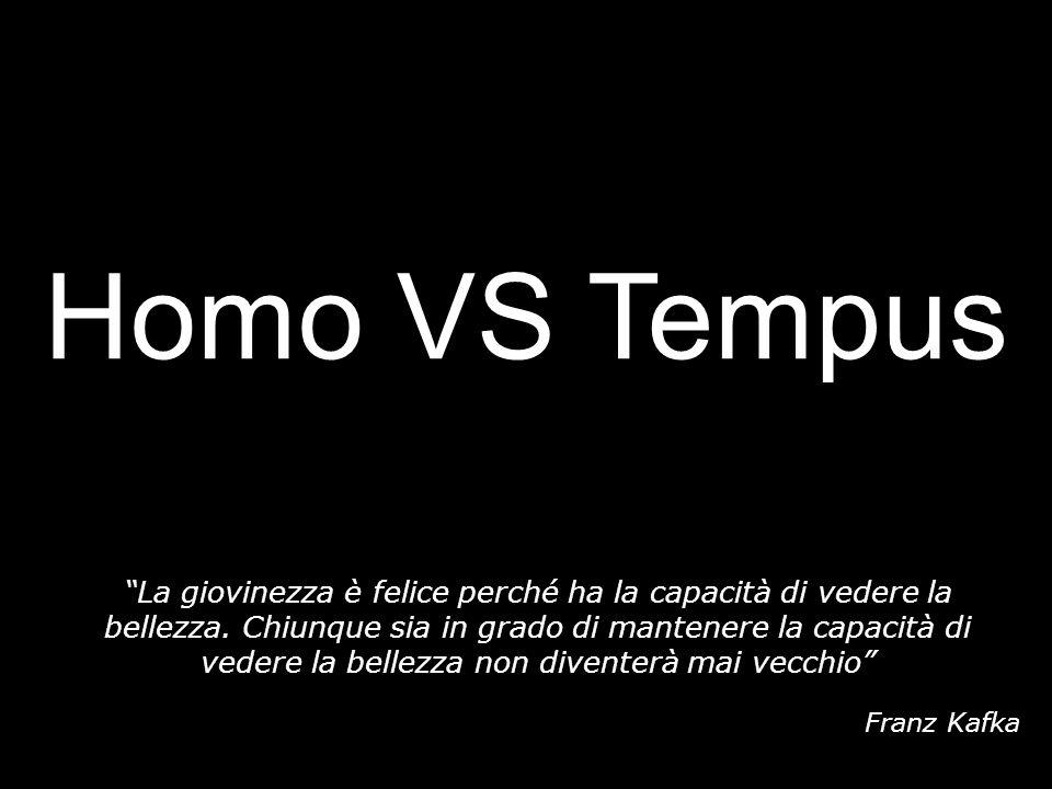 Homo VS Tempus La giovinezza è felice perché ha la capacità di vedere la bellezza. Chiunque sia in grado di mantenere la capacità di vedere la bellezz