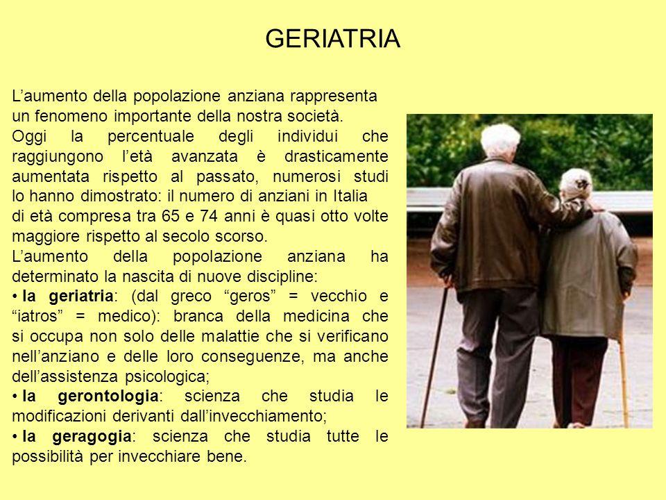 Laumento della popolazione anziana rappresenta un fenomeno importante della nostra società. Oggi la percentuale degli individui che raggiungono letà a