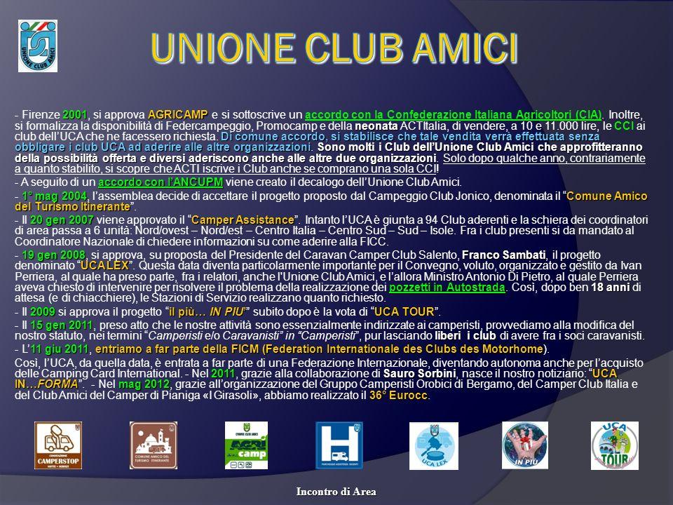 2001AGRICAMP neonata Di comune accordo, si stabilisce che tale vendita verrà effettuata senza obbligare i club UCA ad aderire alle altre organizzazion