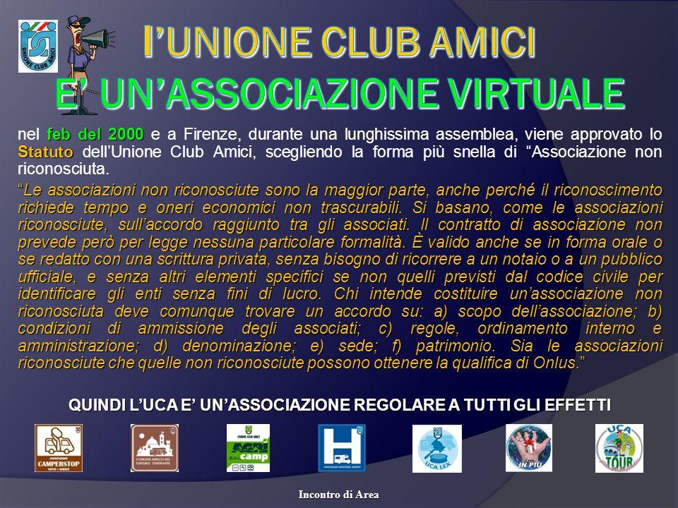 nel f ff feb del 2000 e a Firenze, durante una lunghissima assemblea, viene approvato lo Statuto dellUnione Club Amici, scegliendo la forma più snella