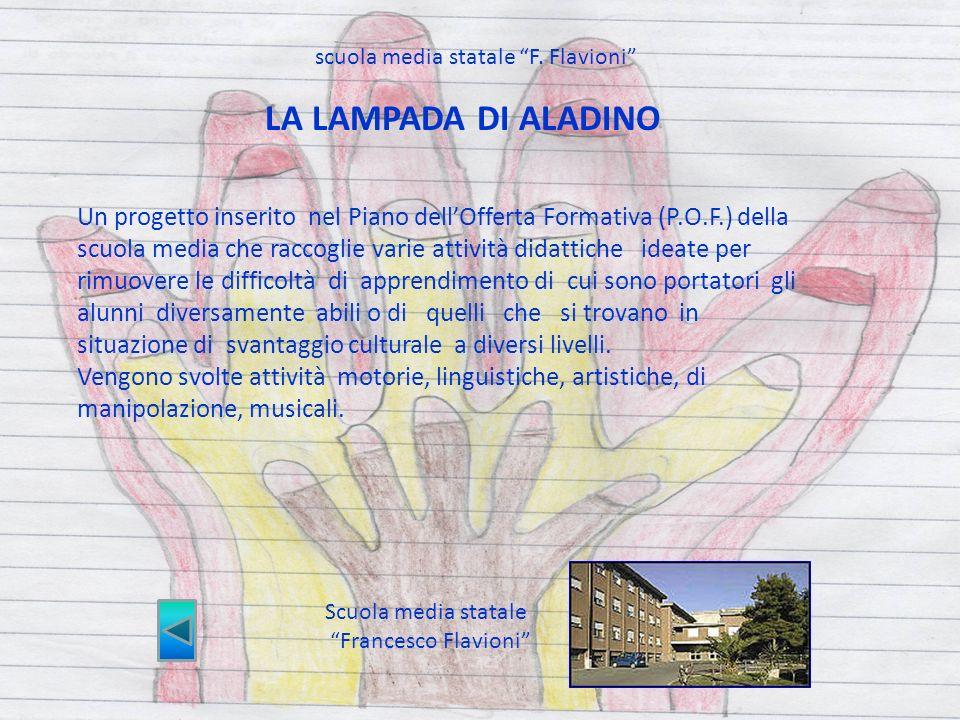Scuola media statale Francesco Flavioni Un progetto inserito nel Piano dellOfferta Formativa (P.O.F.) della scuola media che raccoglie varie attività