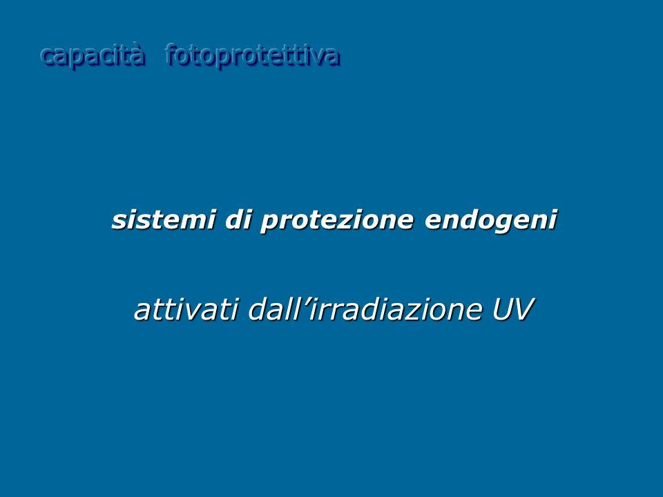 sistemi di protezione endogeni attivati dallirradiazione UV