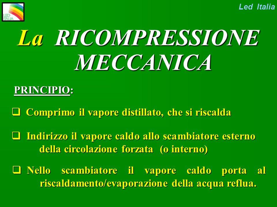 Led Italia Evaporatori a POMPA DI CALORE oppure a RICOMPRESSIONE MECCANICA ?