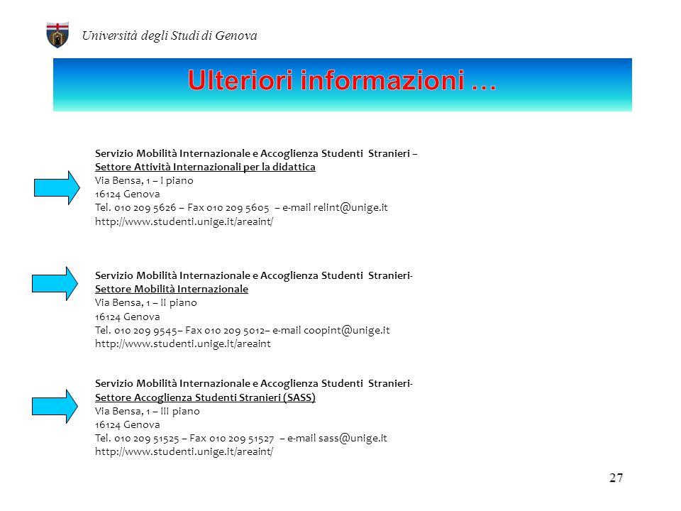 Università degli Studi di Genova 26 Les conversations de Salerne – 25 Ottobre 2012 Ospedale e territorio.