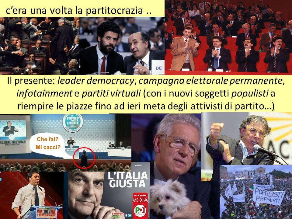 cera una volta la partitocrazia.. Il presente: leader democracy, campagna elettorale permanente, infotainment e partiti virtuali (con i nuovi soggetti