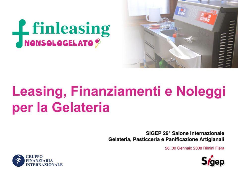 Finleasing è attiva nel settore finanziario da oltre 26 anni e appartiene allarea Servizi alle Imprese del Gruppo Finanziaria Internazionale SpA.