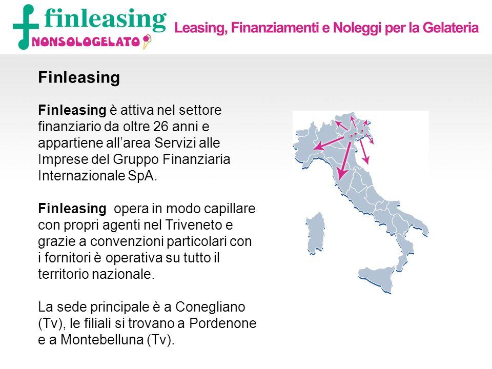Contatti I tuoi referenti Finleasing nonsologelato sono: Massimo Linguanotto Resp.