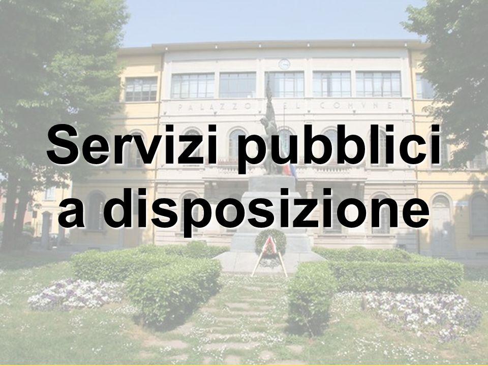 Servizi pubblici a disposizione