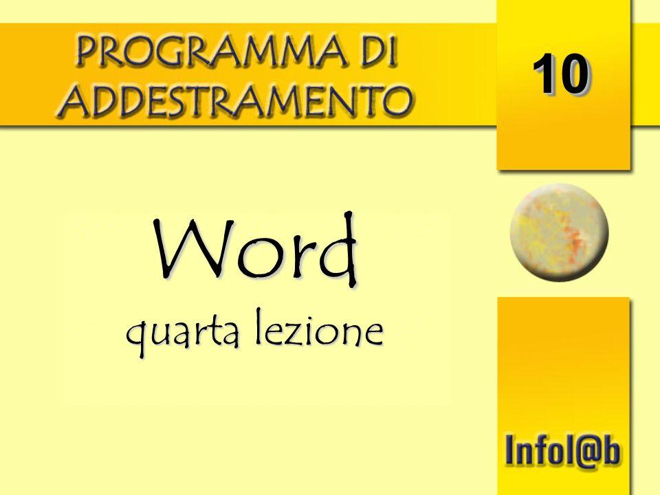 1010 Word quarta lezione