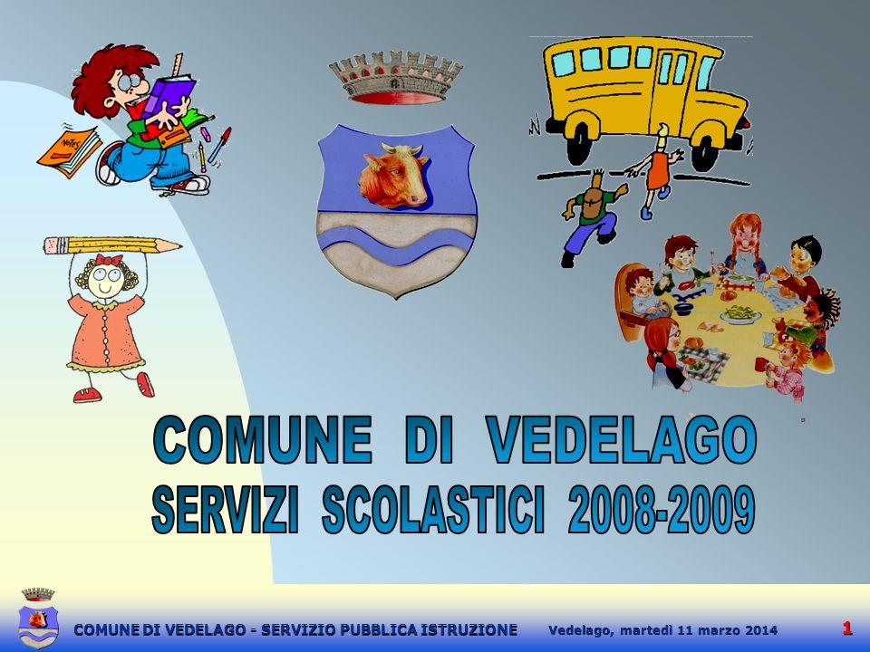 2 2 martedì 11 marzo 2014 Vedelago, COMUNE DI VEDELAGO - SERVIZIO PUBBLICA ISTRUZIONE INTRODUZIONE La Scuola è sempre stata uno degli obiettivi principali della nostra amministrazione.