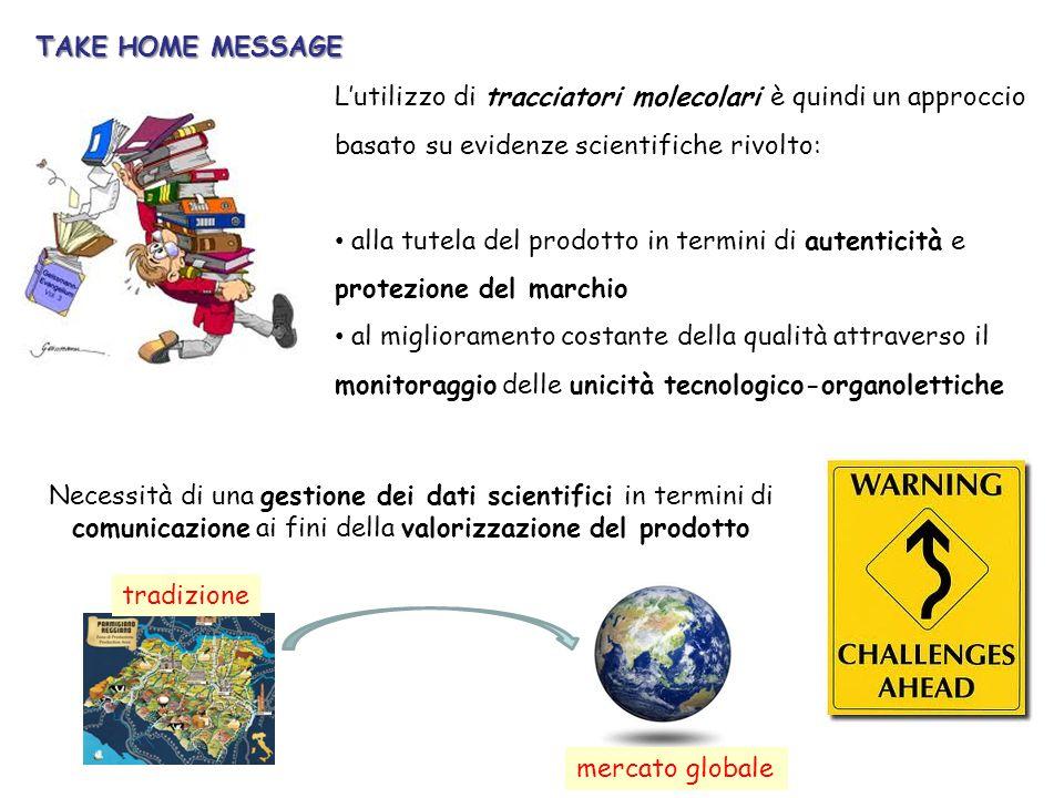 Lutilizzo di tracciatori molecolari è quindi un approccio basato su evidenze scientifiche rivolto: alla tutela del prodotto in termini di autenticità