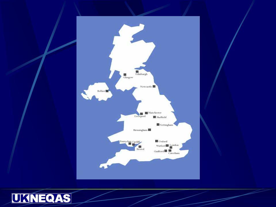 Selezione del Gruppo di riferimento Ottima esperienza nel settore Varietà dei metodi rappresentati Buoni risultati nei programmi di VEQ Status rivisto e monitorato Include laboratori in UK e non in UK