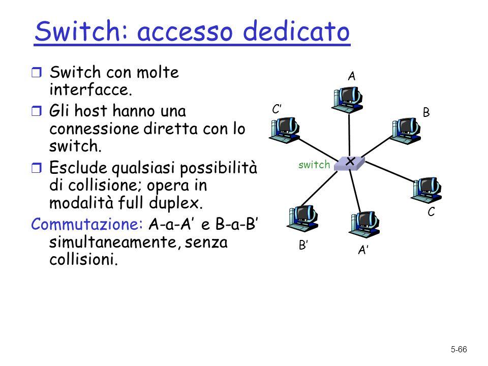 5-66 Switch: accesso dedicato r Switch con molte interfacce.