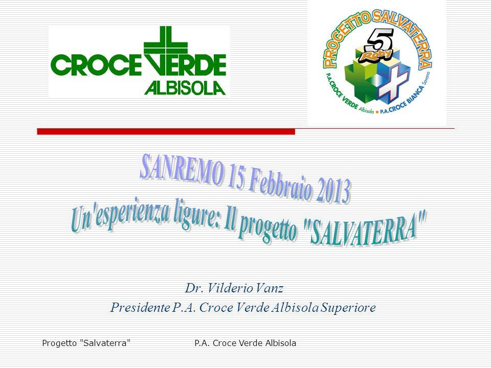 Progetto Salvaterra P.A.Croce Verde Albisola Dr.