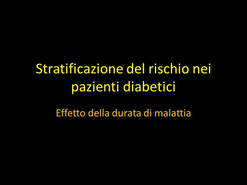 Stratificazione del rischio nei pazienti diabetici Effetto della durata di malattia