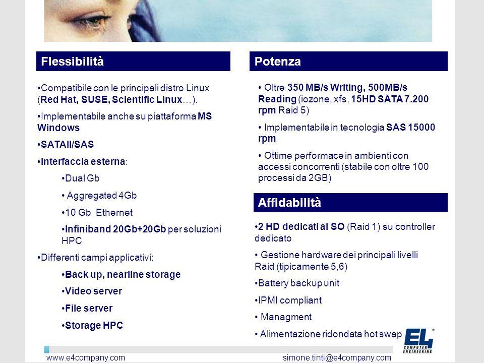 Compatibile con le principali distro Linux (Red Hat, SUSE, Scientific Linux…).