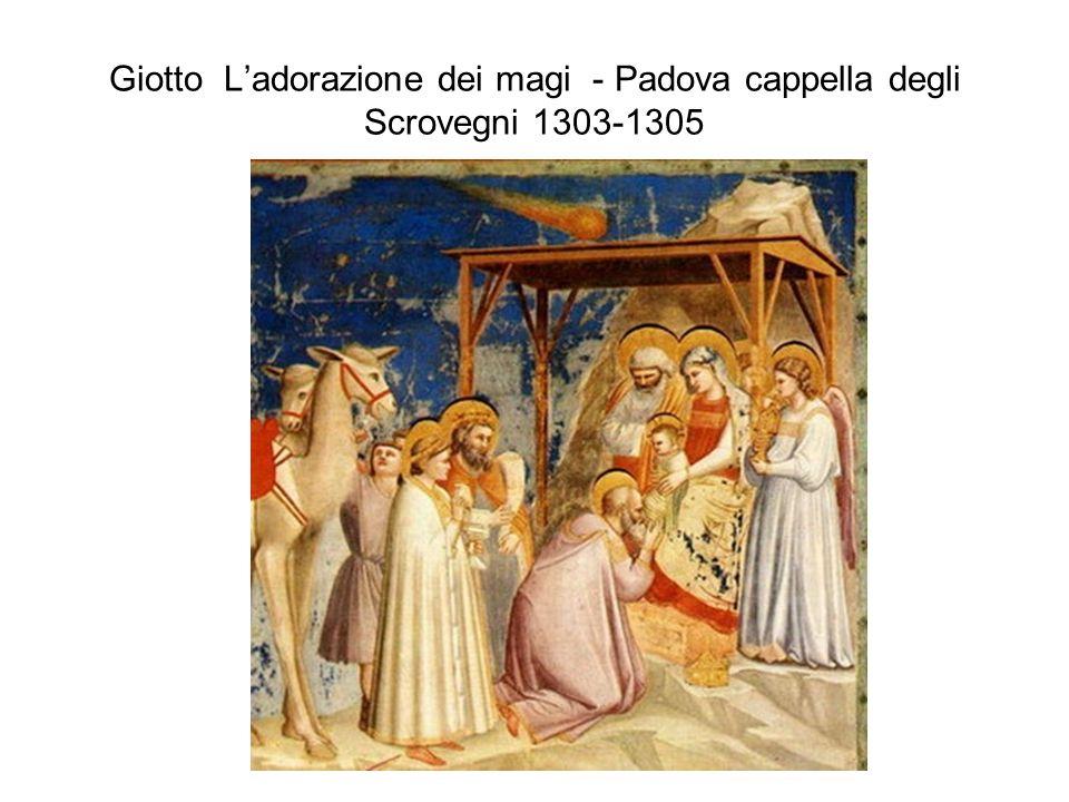 Giotto Ladorazione dei magi - Padova cappella degli Scrovegni 1303-1305