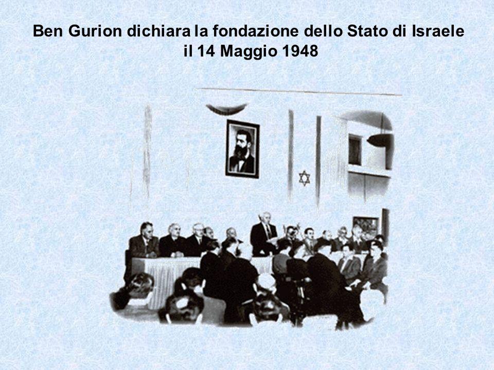 Ben Gurion dichiara la fondazione dello Stato di Israele il 14 Maggio 1948